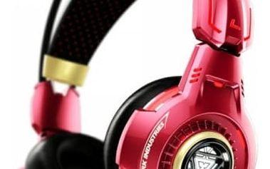 E-Blue herní sluchátka s mikrofonem, IRON MAN 3, červená