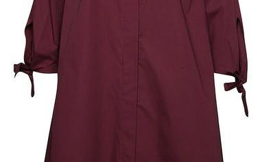 Vínové volné košilové šaty Alchymi Atiqa