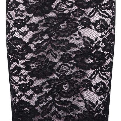 Černo-růžová krajková sukně Miss Selfridge