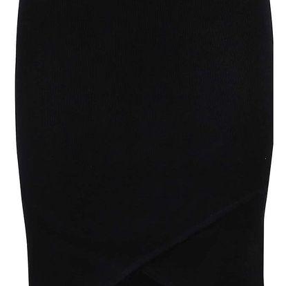 Černá pletená překládaná sukně VILA Helena