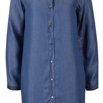 Modré denimové košilové šaty VERO MODA Daisy