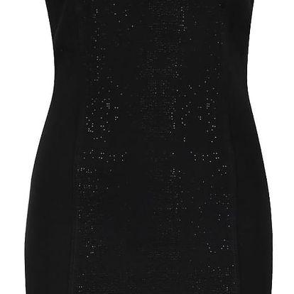 Černé krátké šaty se třpytivou aplikací VERO MODA Shine