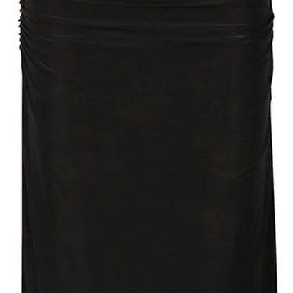 Černé dlouhé nařasené šaty AX Paris