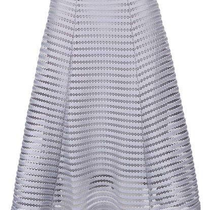 Světle šedá krajková sukně Apricot