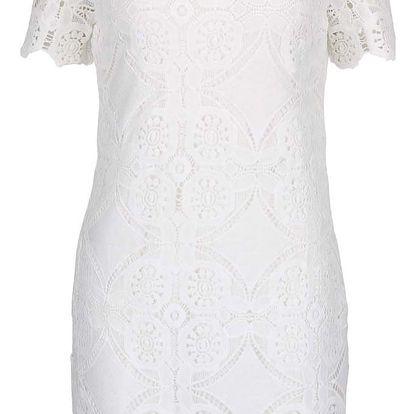 Krémové krajkové šaty VILA Rasmi