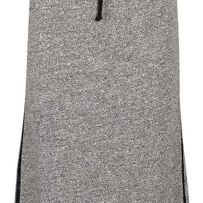 Šedá sukně s černým lemem gsus