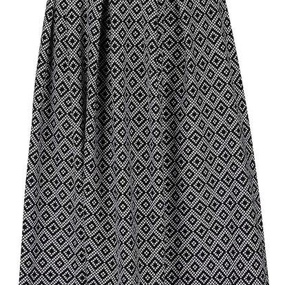 Krémovo-černá vzorovaná sukně Miss Selfridge