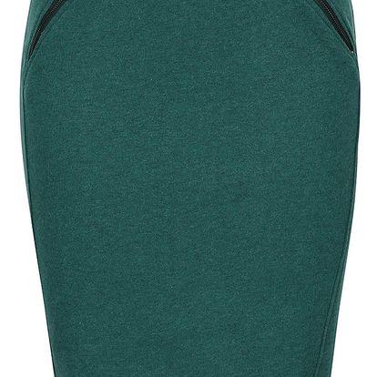 Tmavě zelená sukně s kapsami na zip Skunkfunk Aia