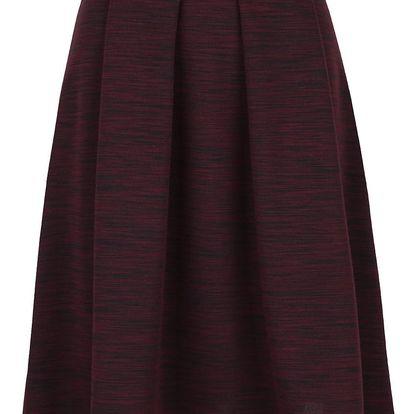 Vínová žíhaná áčková sukně Alchymi Cora