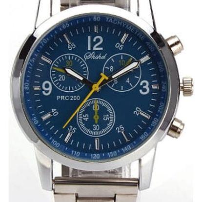 Pánské náramkové business hodinky - modrá - dodání do 2 dnů