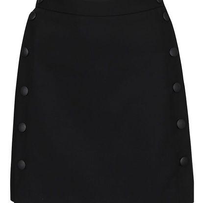Černá zavinovací mini sukně French Connection summer