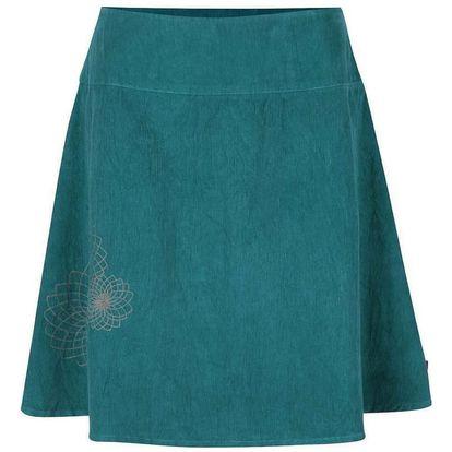Petrolejová manšestrová sukně s výšivkami Tranquillo Tito