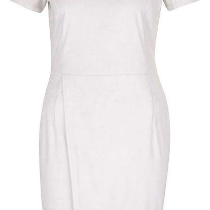 Světle šedé kožené šaty VILA Sueda