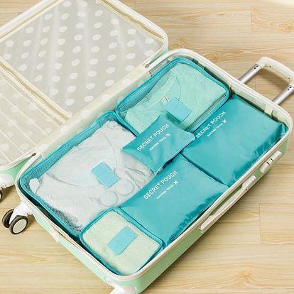Cestovních organizér do kufru 6 kusů - 8 barev