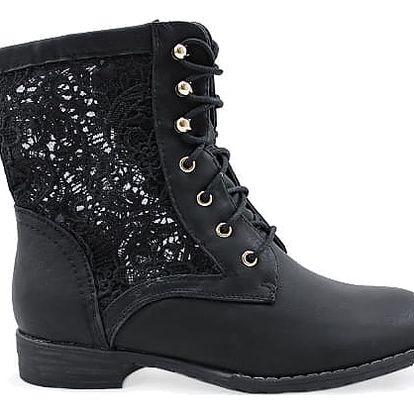 Kotníkové boty s krajkou 67522B 38
