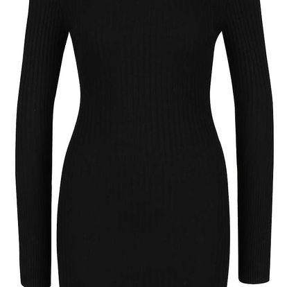 Černé šaty s průstřihy na ramenou Apricot