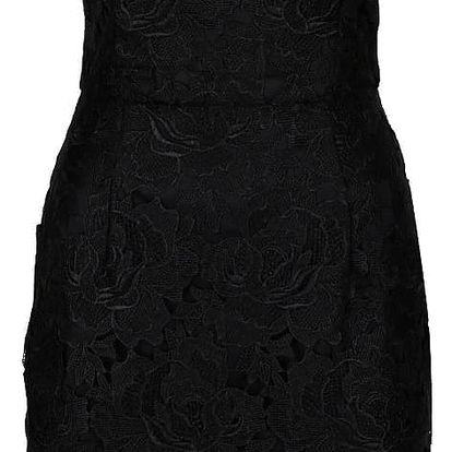 Černé šaty s krajkou AX Paris