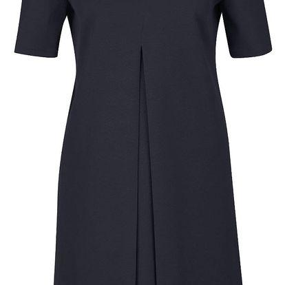 Tmavě modré volné šaty s krátkým rukávem Rich & Royal