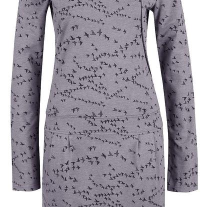 Šedé vzorované šaty s dlouhým rukávem Ragwear Cami Organic