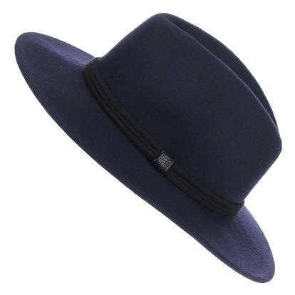 Tmavě modrý vlněný klobouk YAYA