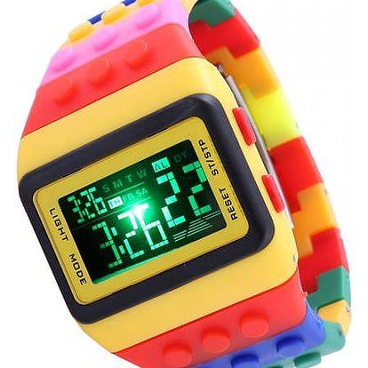 Pánské hodinky v motivu stavebnice - dodání do 2 dnů