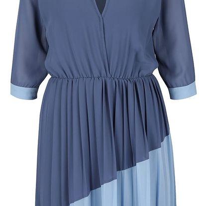 Modré šaty s plisovanou sukní Alchymi Josie