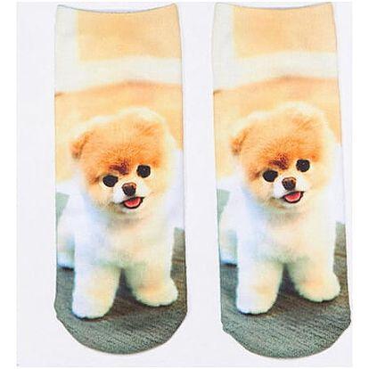 3D ponožky s roztomilými pejsky