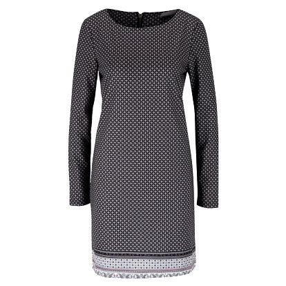 Krémovo-černé vzorované šaty VERO MODA Emma