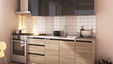 Kuchyně STELLAR 180 antracit/dub