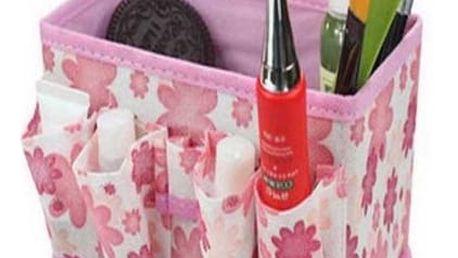 Praktický skládací organizér na kosmetiku. Na výběr v několika barevných provedeních.