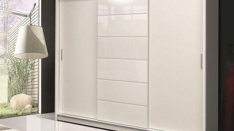 Šatní skříň MALIBU bílá