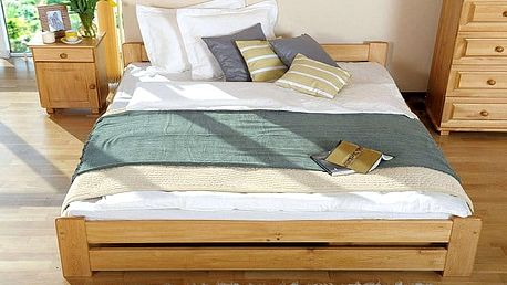 Postelový komplet Bruno s roštem a pěnovou matrací Mája různých rozměrů