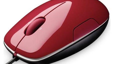 Logitech myš M150 Cinammon (910-003751) červená