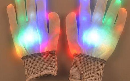 Párty rukavice s LED osvětlením
