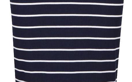 Tmavě modrá pruhovaná sukně Dorothy Perkins