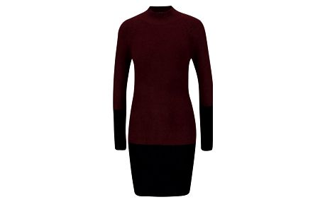 Černo-vínové svetrové šaty AX Paris