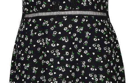 Černé šaty s průhlednými detaily Trollied Dolly Little lovely