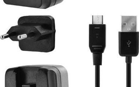Bigben cestovní nabíječka 3.4A s micro USB kabelem, UK,USA,EU