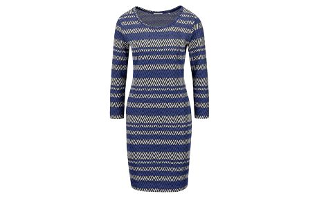 Černo-modré vzorované šaty Rich & Royal