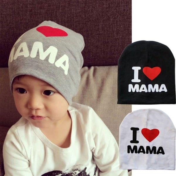 Dětská čepička - I Love MAMA - I Love PAPA