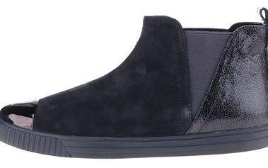 Tmavě modré dámské semišové kotníkové boty Geox Amalthia