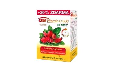 GS Vitamin C 500 se šípky 100 + 20 tablet