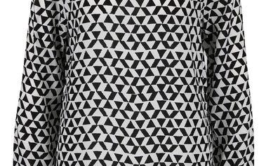 Černo-bílá dámská vzorovaná halenka QS by s. Oliver