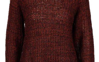 Černo-vínový svetr s rolákem Mimei b.young