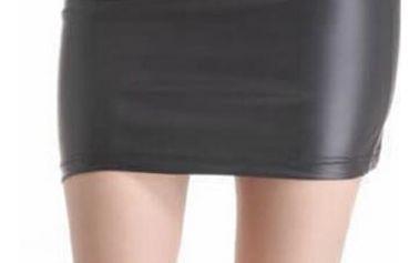 Dámská sukně z umělé kůže
