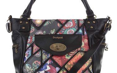 Černá kabelka s barevným vzorem Desigual McBee Indiana