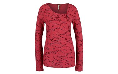 Červené dámské tričko s dlouhým rukávem Ragwear Ellie Organic