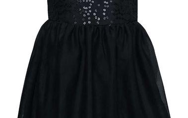 Tmavě modré holčičí šaty s flitry name it Walliet