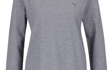 Tmavě modré dámské tričko s 3/4 rukávem GANT Pique