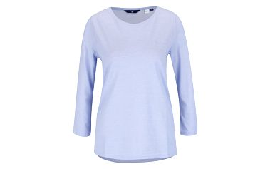 Modré dámské tričko s 3/4 rukávem GANT Pique